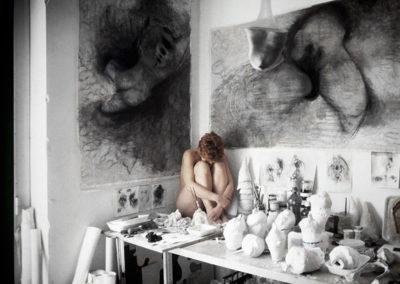2001 Autoritratto, studio di Milano